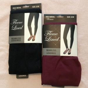 2 Pairs of Gold Medal Fleece Lined Leggings